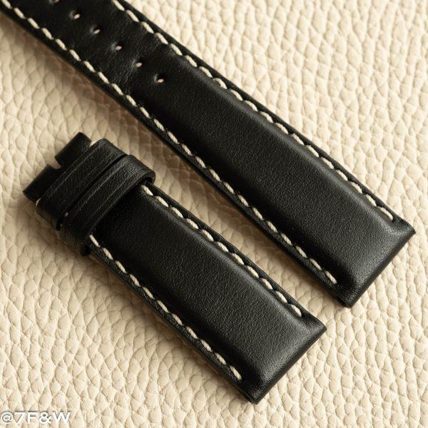 black deployant watch strap