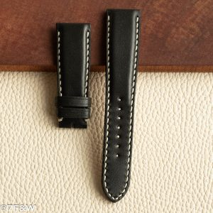 black deployant watch strap