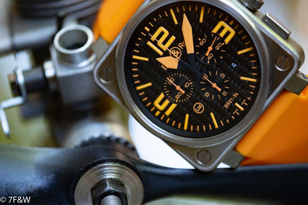 Bell&Ross Titanium Orange close-up