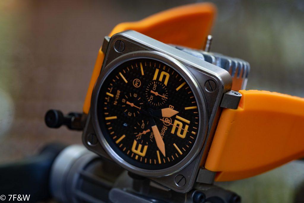 Bell&Ross Titanium Orange with its original orange strap