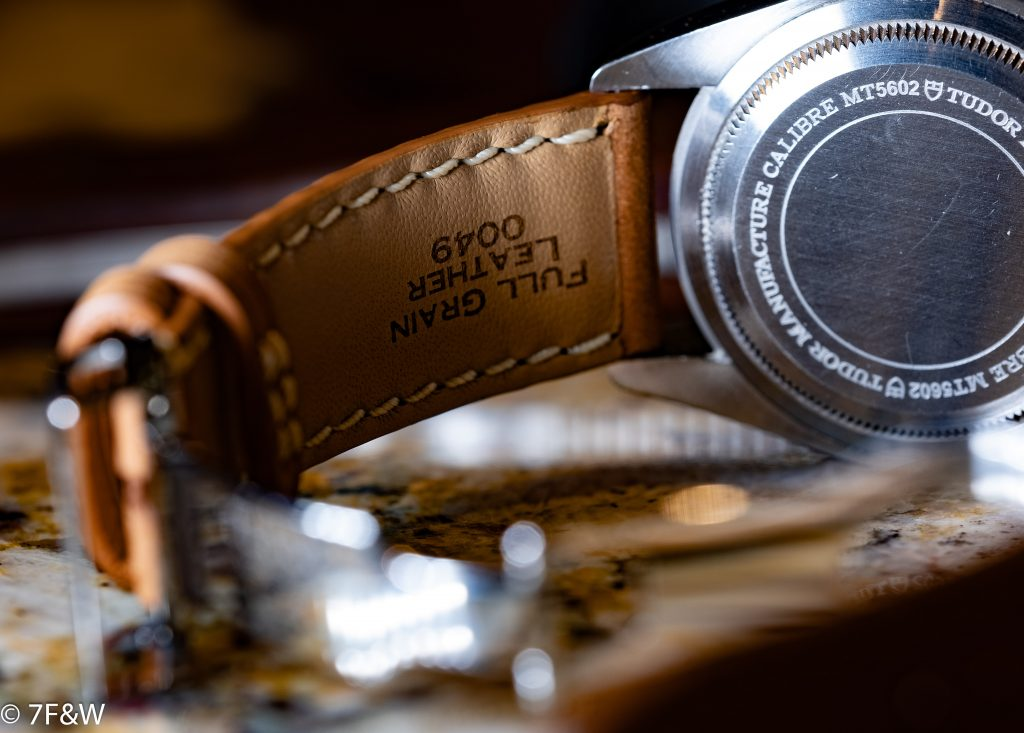 7Friends&Watches full grain leather strap detail
