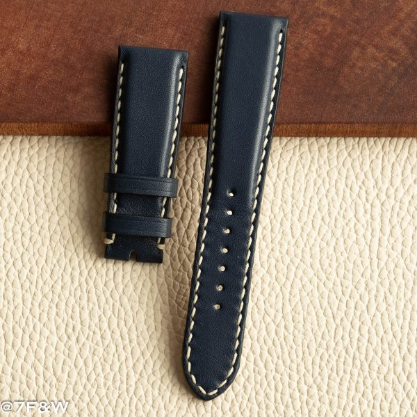 blue deployant watch strap