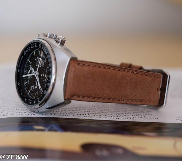brown padded watch strap