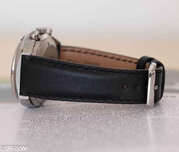 black padded watch strap