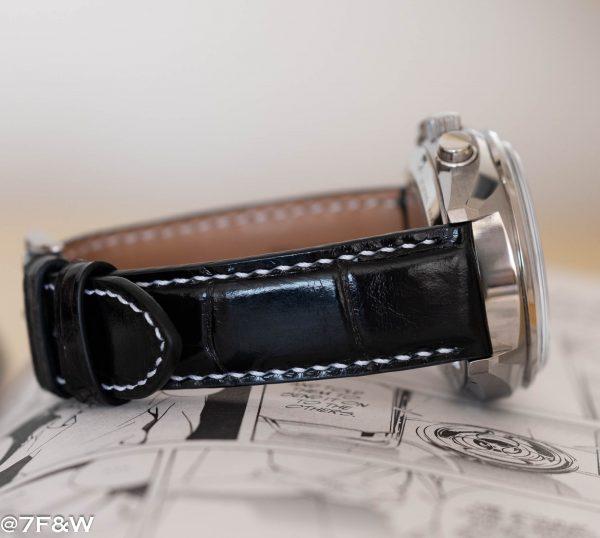 padded alligator watch strap