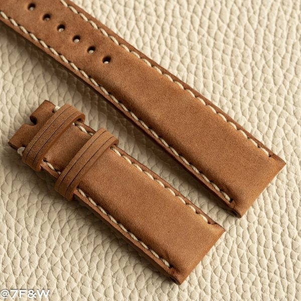 brown deployant watch strap