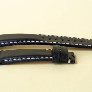 Watchtower black leather watch strap