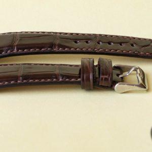 Classy brown alligator watch strap
