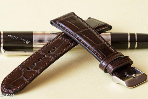 brown alligator watch strap