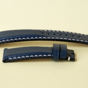 Tale dark blue leather watch strap