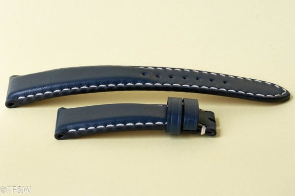Tale dark blue leather watch strap