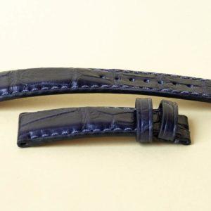 Sea life dark blue alligator watch strap