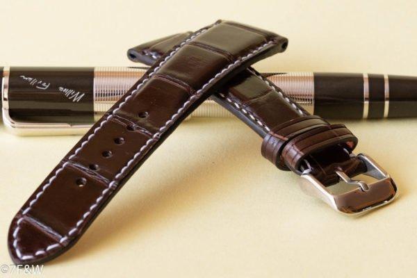 luxury alligator watch strap