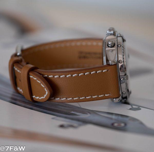 medium brown watch strap