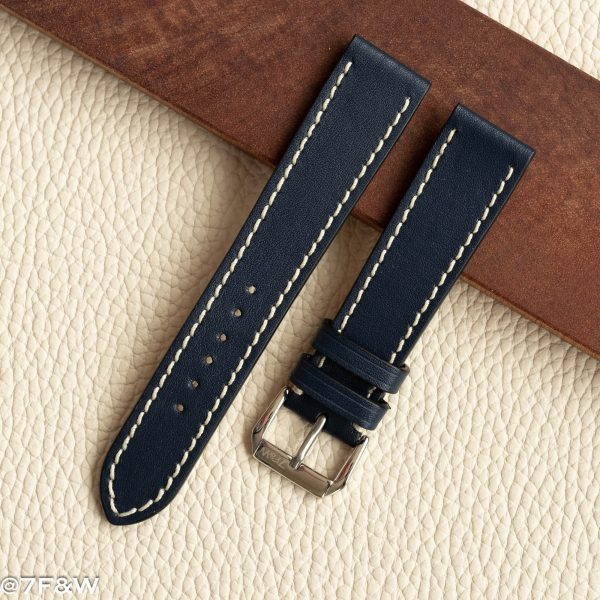 navy leather watch strap