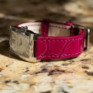 women alligator watch strap