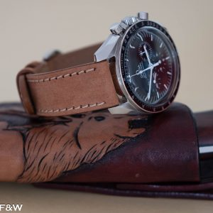 Honey light brown leather watch strap 12