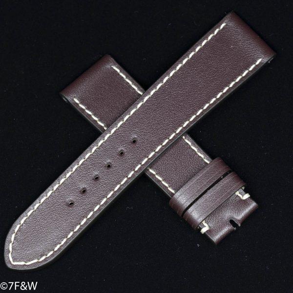 purple leather watch strap