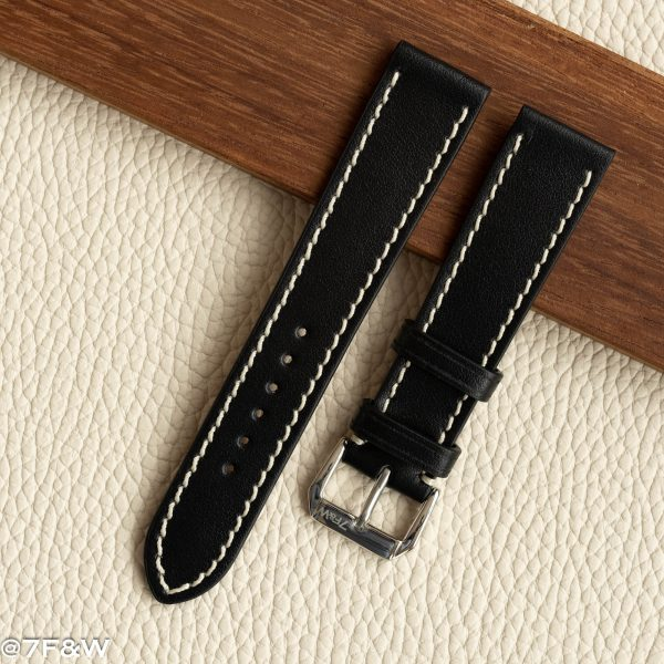 21mm leather watch strap