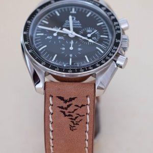 Dust halloween leather watch strap 1