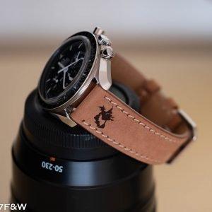Honey halloween leather watch strap