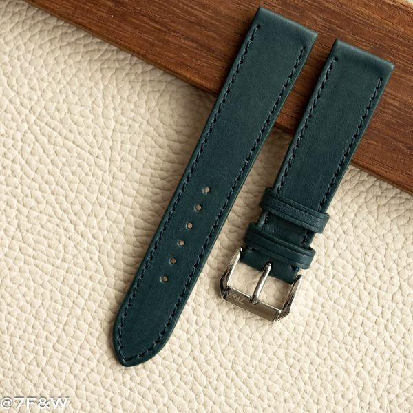 teal leather watch strap
