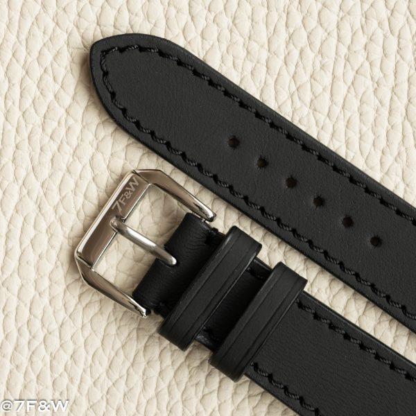 matt black watch strap