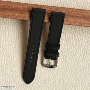 matt black watch strap