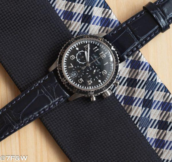 deep blue alligator watch strap