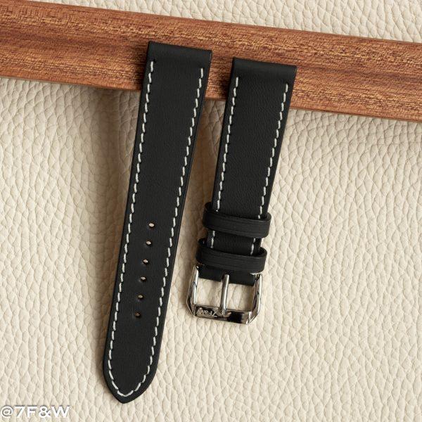 matt leather watch strap