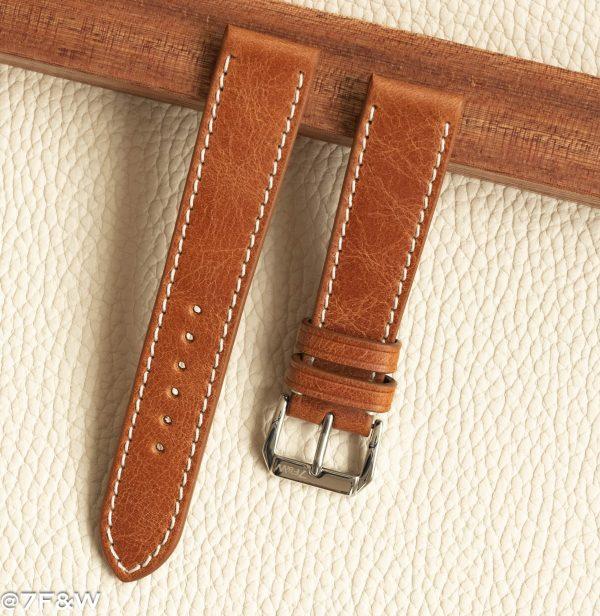 cognac watch strap
