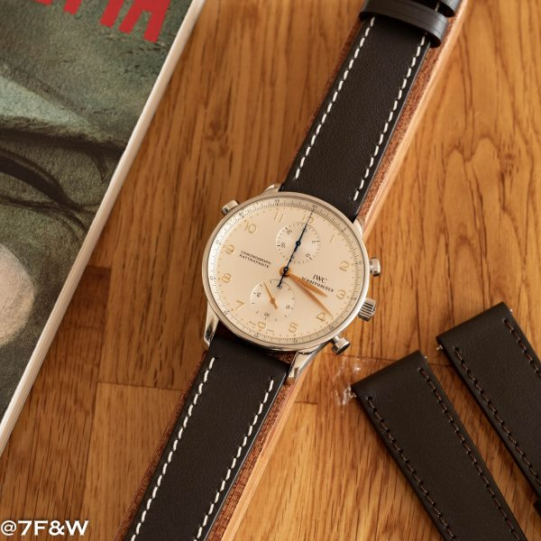 Ebony Leather Watch Strap