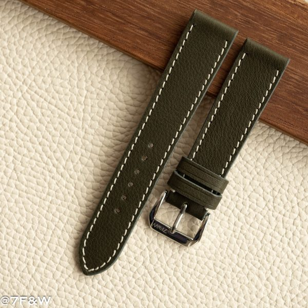 khaki leather watch band