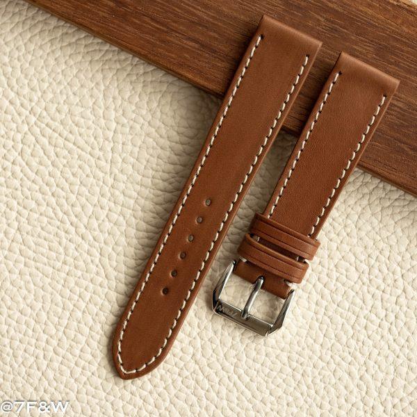 white stitch watch strap
