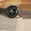 grey leather watch strap