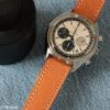 orange leather watch strap