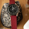 red leather watch strap