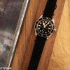 Black suede watch strap