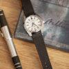 brown saffiano watch strap