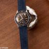 Navy suede watch strap