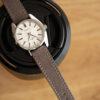 light brown Saffiano watch strap