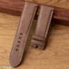 Padded Natural Leather Watch Strap for Panerai in Light Brown