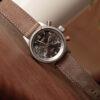 Grey nubuck watch strap