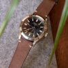 Brown nubuck watch strap